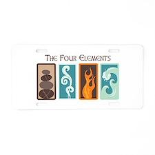 The Four Elements Aluminum License Plate