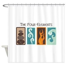 The Four Elements Shower Curtain