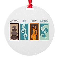 Earth Air Fire Water Ornament