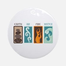 Earth Air Fire Water Ornament (Round)