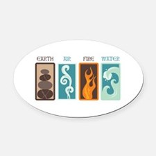 Earth Air Fire Water Oval Car Magnet