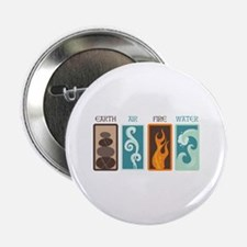 "Earth Air Fire Water 2.25"" Button"