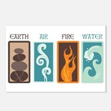 Earth Air Fire Water Postcards (Package of 8)