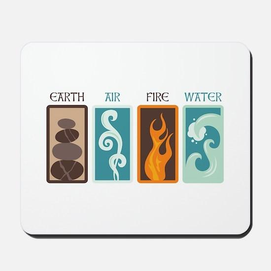Earth Air Fire Water Mousepad
