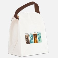 Earth Air Fire Water Canvas Lunch Bag