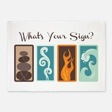 Whats Your Sign? 5'x7'Area Rug