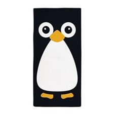Cute Vector Penguin Beach Towel