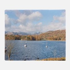 View of Loughrigg Fell across Winder Throw Blanket