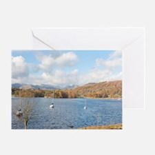 View of Loughrigg Fell across Winder Greeting Card