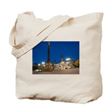 Georges Square in Glasgow at night Tote Bag