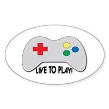 Live To Play! Decal