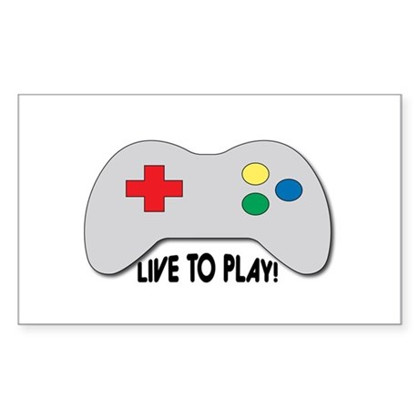Live To Play! Sticker