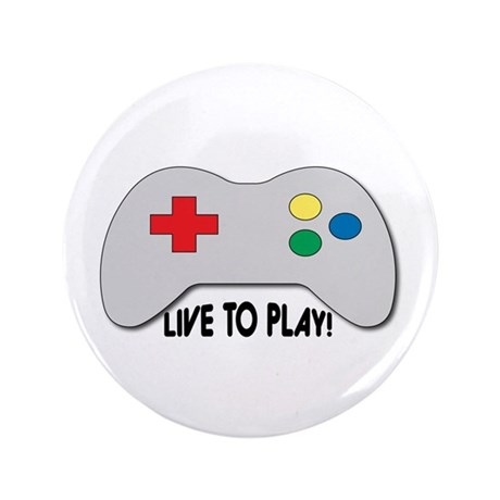 """Live To Play! 3.5"""" Button (100 pack)"""