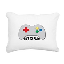 Live To Play! Rectangular Canvas Pillow