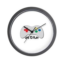 Live To Play! Wall Clock