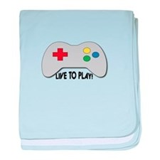 Live To Play! baby blanket