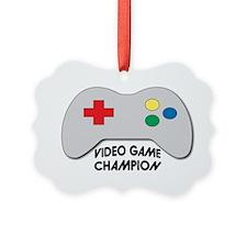 Video Game Champion Ornament