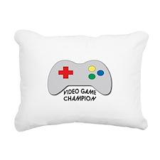 Video Game Champion Rectangular Canvas Pillow