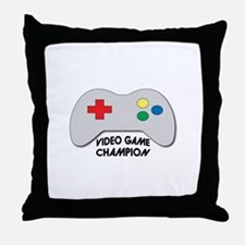 Video Game Champion Throw Pillow