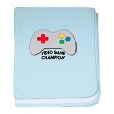 Video Game Champion baby blanket
