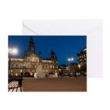 George Square, Glasgow illuminated a Greeting Card