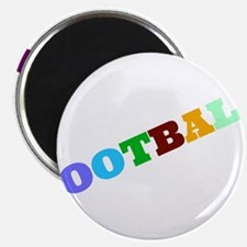 Colored Football Text Magnets