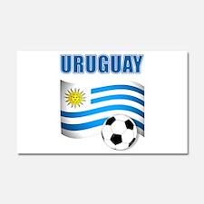 Uruguay soccer futbol Car Magnet 20 x 12
