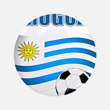 """Uruguay soccer futbol 3.5"""" Button (100 pack)"""