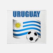 Uruguay soccer futbol Throw Blanket