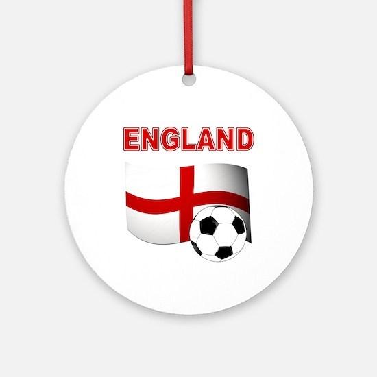 England Football Ornament (Round)