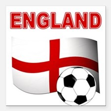"England Football Square Car Magnet 3"" x 3"""