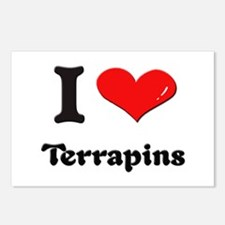 I love terrapins  Postcards (Package of 8)