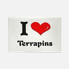 I love terrapins Rectangle Magnet