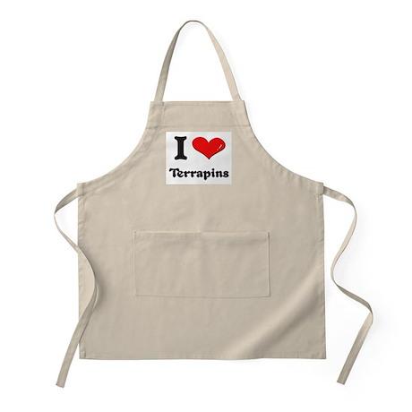 I love terrapins BBQ Apron