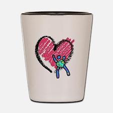 CdCS Heart Design Shot Glass