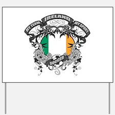 Ireland Soccer Yard Sign