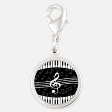 Stylish designer piano and music notes Charms