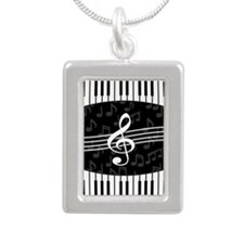 Stylish designer piano and music notes Necklaces