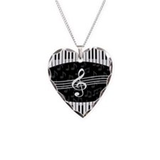 Stylish designer piano and music notes Necklace