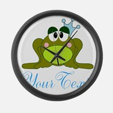 Personalizable Frog Prince Large Wall Clock