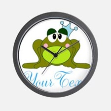 Personalizable Frog Prince Wall Clock