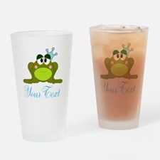 Personalizable Frog Prince Drinking Glass