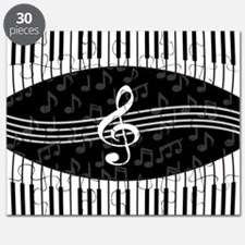 Stylish designer piano and music notes Puzzle