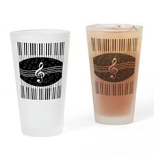 Stylish designer piano and music notes Drinking Gl