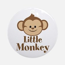 Cute Little Monkey Ornament (Round)