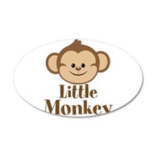 Cute Little Monkey Wall Decal