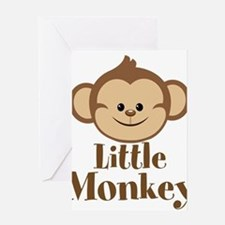 Cute Little Monkey Greeting Cards