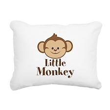 Cute Little Monkey Rectangular Canvas Pillow