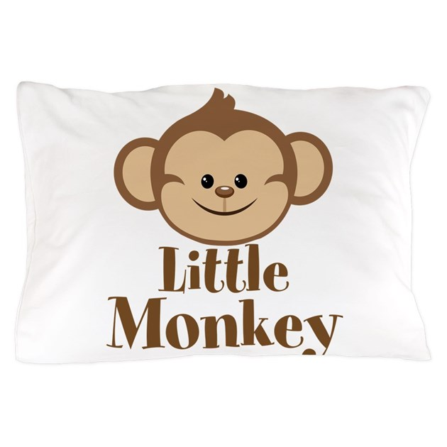 Cute Little Monkey Pillow Case by BeachBumFamilyShop