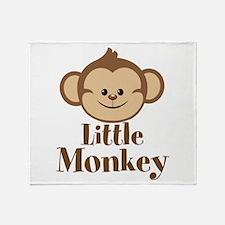 Cute Little Monkey Throw Blanket